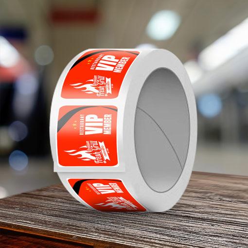 Custom Restaurant Labels   Semi Gloss Paper Stock With Silk Lamination VIP Member Labels   Print Magic