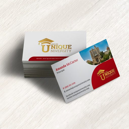 Education Business Cards | Education Business Cards printing with Print on Glossy paper stock for a shiny and professional feelg and Vibrant, full-color printing on one or two sides | Print Magic
