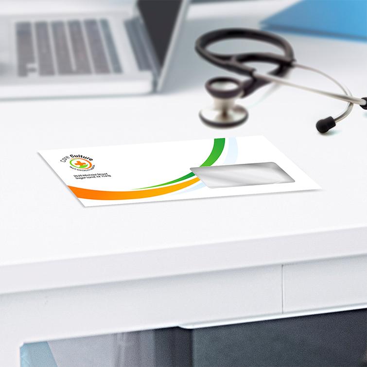 Health Standard Envelopes   White Premium Opaque Paper Stock Care Culture Envelopes   Print Magic