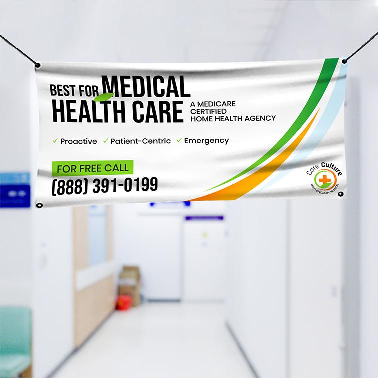 Health Vinyl Banner Indoor   Premium Vinyl Banner 10 mil Material Best for Medical Health Care Banner   Print Magic