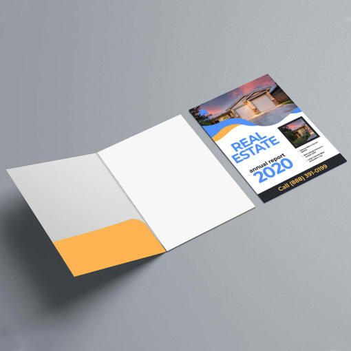 Custom Presentation Folders | Health Vertical No Business Card Slits On Left Pocket and Personalization has become vital for businesses to ensure they have a unique brand image | print Magic