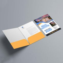 Velvet Soft Touch Presentation Folders | On Both Pockets Real Estate Vertical No Business Card Slits With Premium Cardstock Paper stock and Silk Lamination | Print Magic