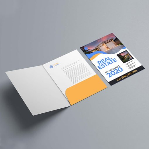 Velvet Soft Touch Presentation Folders | On Right Pocket Real Estate Vertical No Business Card Slits And Preassembled Folders made to your exact requirements | Print Magic