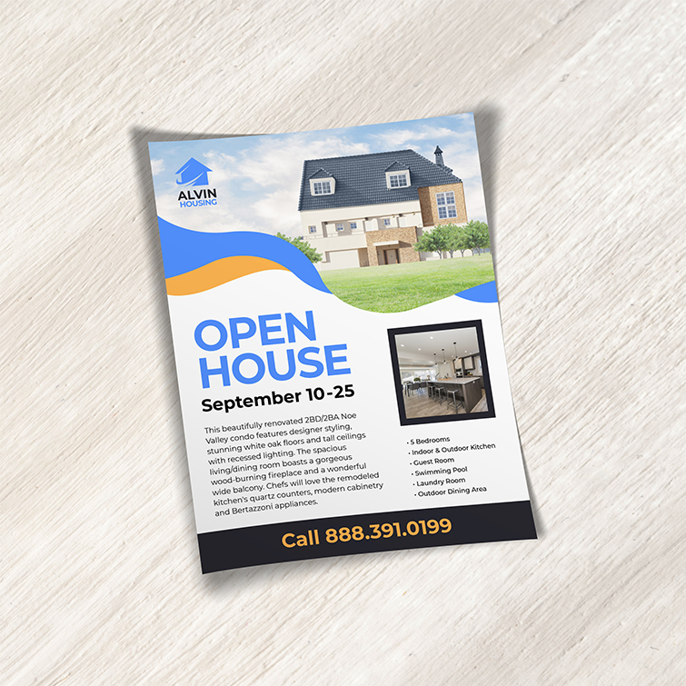 Real Estate Business Flyers | Real Estate Business Flyers with full-color printing with your custom design and Flat or folded flyer options | Print Magic