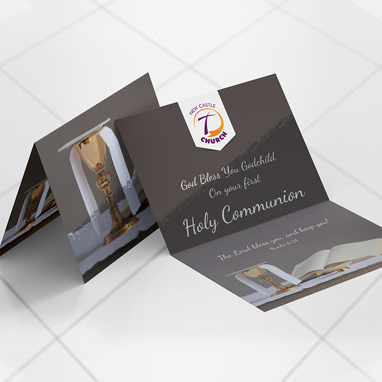 Church Silk Invitation cards | Silk lamination is durable, water, and tear-resistant and Extra smooth surface looks and feels great | Print Magic