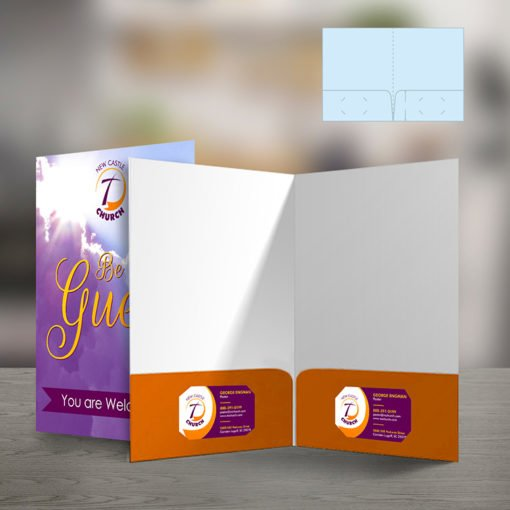 Velvet Soft Touch Presentation Folders | Standard Both Pockets Horizontal Business Card Slits With Velvet Soft Touch Lamination on 16 pt Premium Cardstock | Print Magic