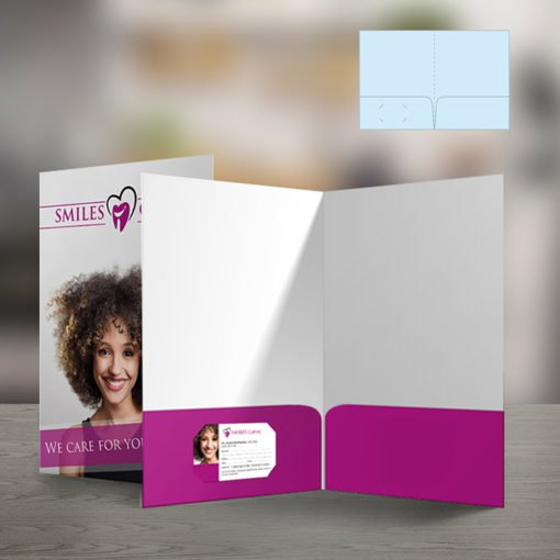 Velvet Soft Touch Presentation Folders | Standard Both Pockets Horizontal Business Card Slits Left Pockets With Premium Cardstock Paper stock and Silk Lamination | Print Magic
