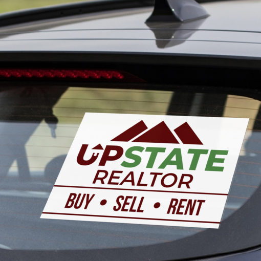 Opaque Vehicle Decals | Vehicle Decal Opaque Window Graphics 8mil Color Front and Back Real Estate | PrintMagic