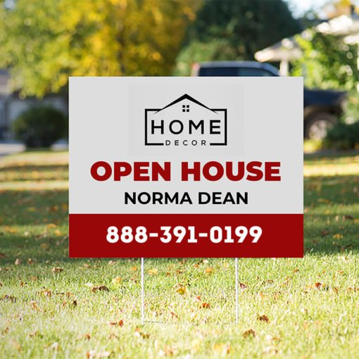 Yard Signs | Corrugated Plastic 4mm Material Open House Yard Signs | Print Magic