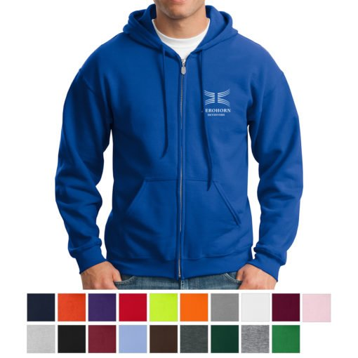 Print Custom Gildan® Heavy Blend™ Full-Zip Hooded Sweatshirt   PrintMagic