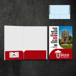 Mini Presentation Folders   Education Half Moon Horizontal Business Card Slits Centered On The Left Pocket and Powerful marketing tools that add professionalism and create interest   Print Magic