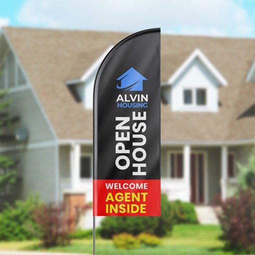Feather Flags | Durable, weather-resistant, and washable Feather Flags and Marketing displays printed on durable Polyester fabric | Print Magic