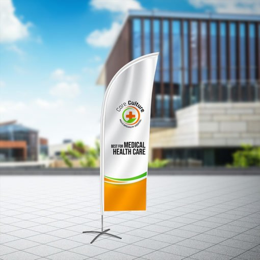 Feather Flags | Strategically placed in high-traffic areas to grab attention and Durable, weather-resistant, and washable Feather Flags Feather Flag Healthcare | Print Magic