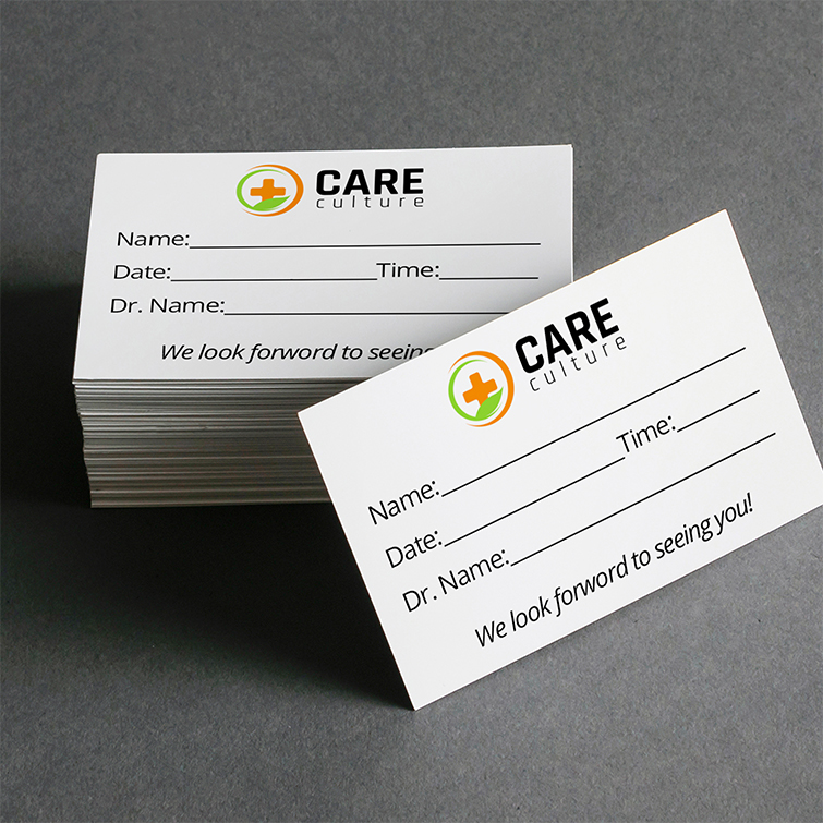 Appointment Cards   Standard Business Cards   Print on Glossy paper stock for a shiny and professional feel and Vibrant, full-color printing on one or two sides Appointment Cards   Print Magic