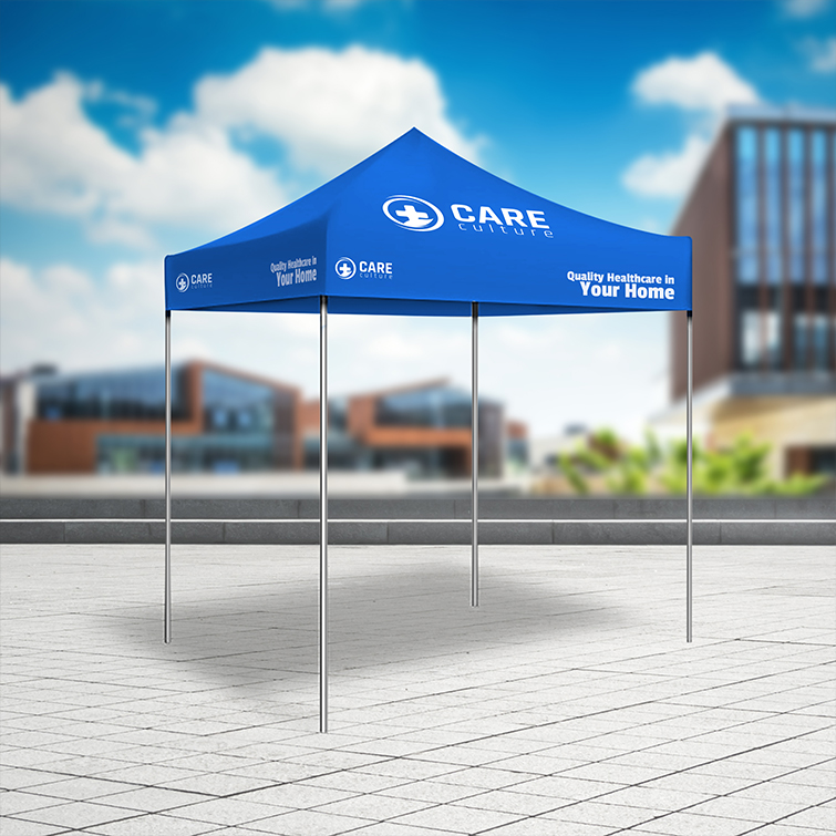 Healthcare Event Tents   Easy-to-assemble, sturdy aluminum frame and Ideal for indoor and outdoor events   Print Magic