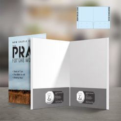 Custom Presentation Folders | Reinforced EDGE Both Pocket Horizontal Business Card Slits And Pre-folded, glued, and assembled customizable Presentation Folders | print Magic