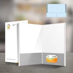 Custom Presentation Folders | Reinforced EDGE Both Pockets Horizontal Business Card Slits Right Pockets and Business Card Slits on the left or right inside pocket | print Magic