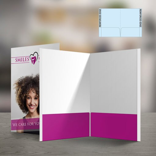 Custom Presentation Folders | Reinforced EDGE Both Pockets No Business Card Slits and Display documents in a professional, wrinkle-free way | print Magic