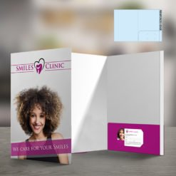 Custom Presentation Folders | Reinforced EDGE Right Pocket Horizontal Business Card Slits and Use the Pockets on the inside as an additional promotional opportunity | print Magic
