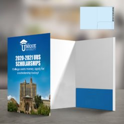 Custom Presentation Folders | Reinforced EDGE Right Pocket No Business Card Slits and Choose colors and layouts that match your present branding identity for a cohesive look | print Magic