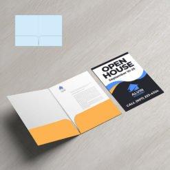 Mini Presentation Folders   Real Estate No Business Card Slits No Reinforced Edge and Small size Folders that create a big impact   Print Magic