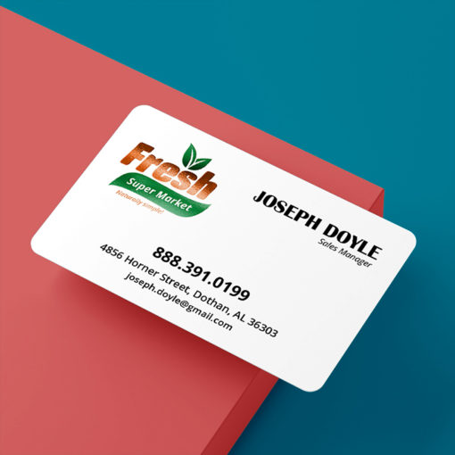 Akuafoil Business Cards | Akua Foil Rounded Corner Business Cards Horizontal Rectangle Health and Food Industry | PrintMagic