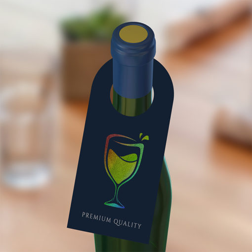 Bottle Neck AQUA-FOIL Hang Tags | AQUA-FOIL provides radiant and dazzling printing and Add an attractive metallic element to your Bottle Neckers | PrintMagic