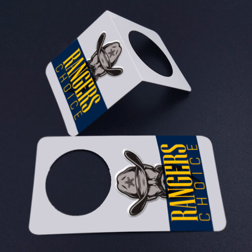 Bottle Neck Velvet Soft Touch Hang Tags | A premium way to advertise and promote your products and The laminated paper is water, tear, and scratch-resistant | PrintMagic