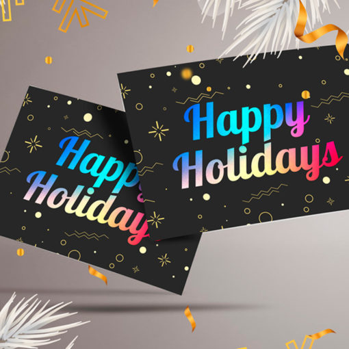 AQUA-FOIL Postcards | Print Metallic Postcards for their versatility of use With Perfect for Direct Mailing or EDDM campaigns | PrintMagic