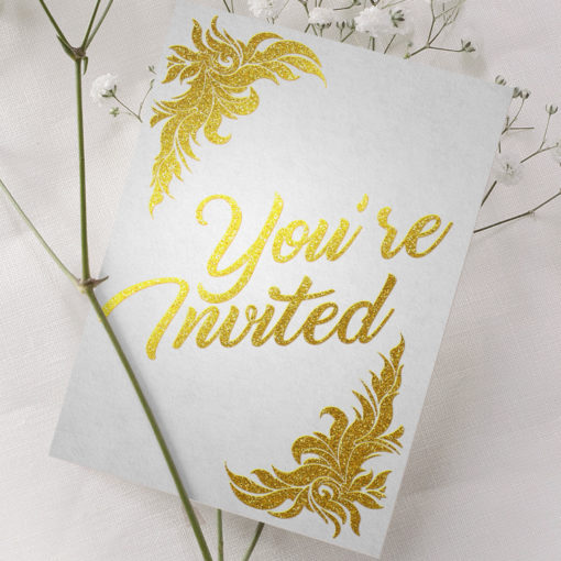 Foil Invitation card | PrintMagic