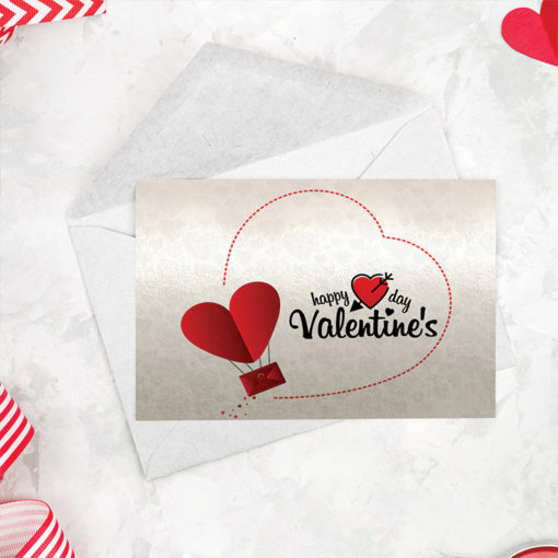 Flat Pearl Metallic Greeting Cards | Standard Pearl Metallic (14pt Pearl Metallic) Paper Stock Printed Front Side Valentines Special Cards | PrintMagic