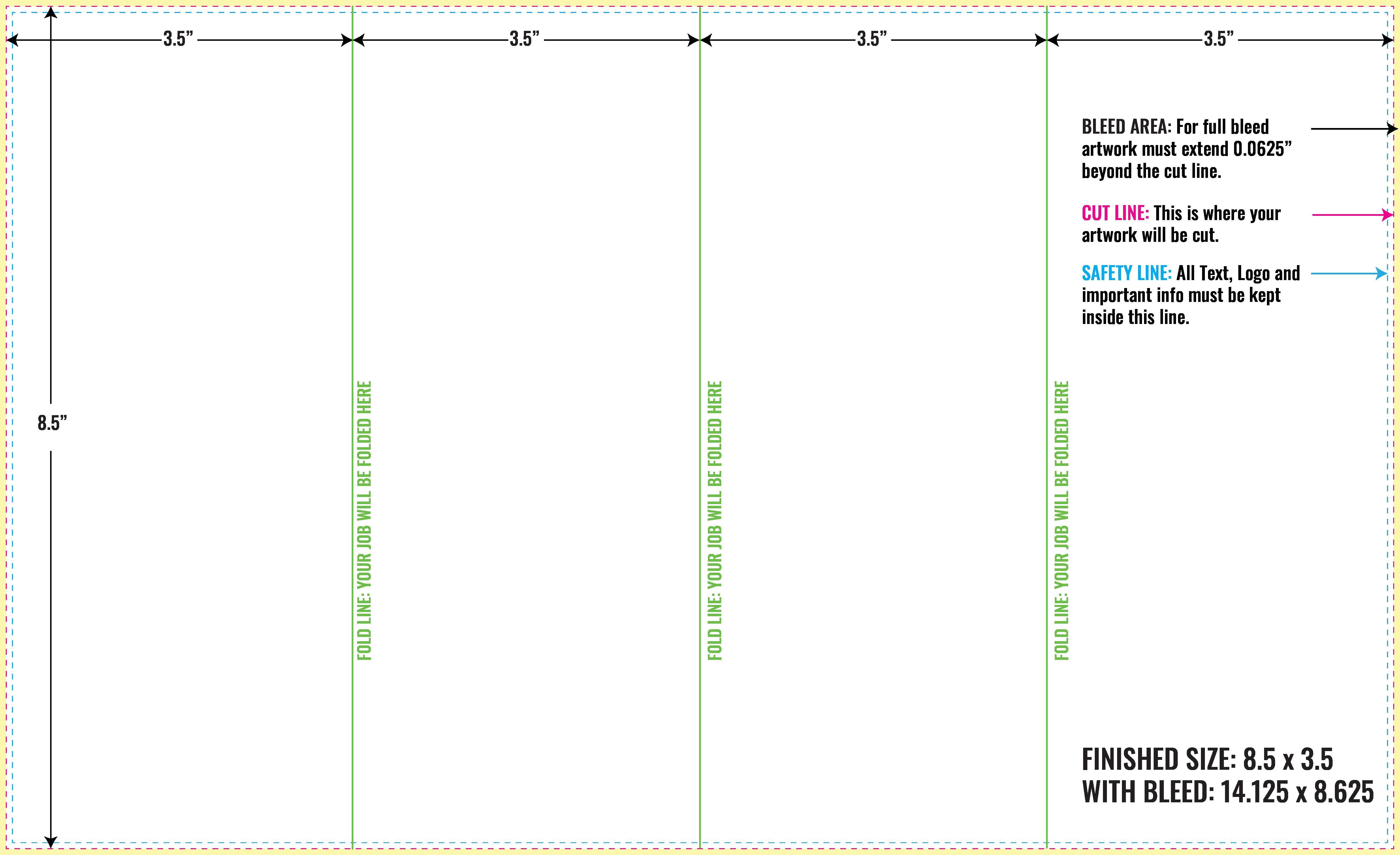 Free inDesign Brochure Layout Guidelines  PrintMagic  Vertical Inside Z Fold Brochure Template Indesign